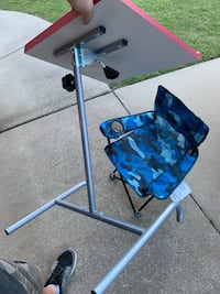 Child's table & folding chair