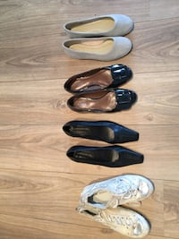 4 pairs of new/almost new shoes. Size 38-39.