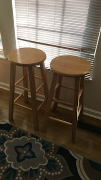 two round brown wooden bar stools Dumfries, 22025