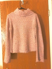 Cotton candy Speckled turtle neck sweater with angel sleeves /  Columbus, 43201