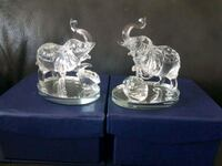 Two new glass elephants.  Toronto, M2M 4B9