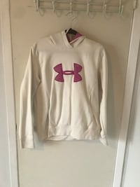 White and red under armour pullover hoodie Hamilton