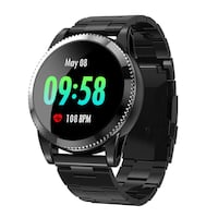 Sports Smartwatch Fitness Tracker with Pedometer Notifications Music Control Blood Pressure Heart Rate Monitor Camera Touch Screen Watch for Android Phones iPhones 220 mi