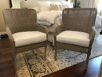 Stunning wicker/rattan accent chairs with arms. Brand are brand new but just need covers. $175 Bourbonnais, 60914