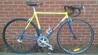blue and yellow road bike 786 km
