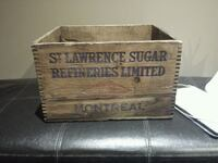 Antique/vintage St. Lawrence Sugar wooden box  Toronto, M9R 2H4