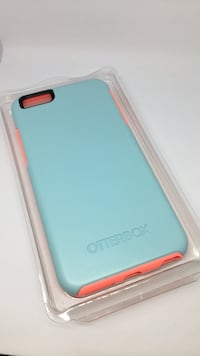 Teal and coral iPhone 6 Plus case