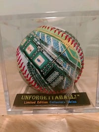 Unforgettaball Bank One Limited Edition baseball Chicago, 60638