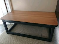 Oak coffee table with mteal detailed edges  Grimsby, L3M 4E7