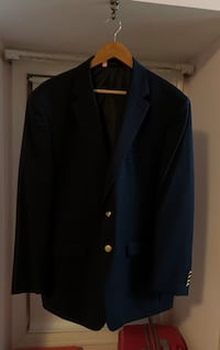 Chaps Sports Coat Navy Blue 44 R Burke, 22015