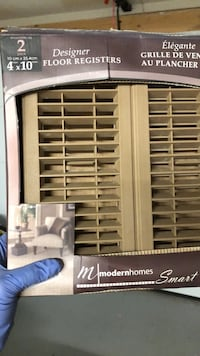 5 Light brown floor registers / 5 grilles de ventilation au plancher Laval, H7G 0A4