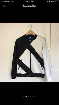 black and white zip-up jacket South Hadley, 01075