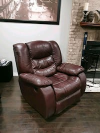 Reclining Leather Arm Chair