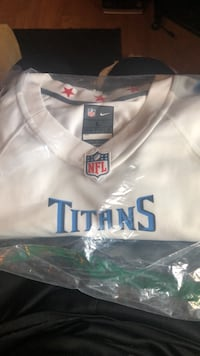 White and blue nike jersey shirt 2220 mi