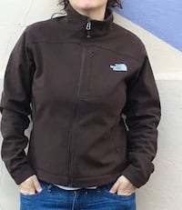 Giacca con zip The North Face marrone