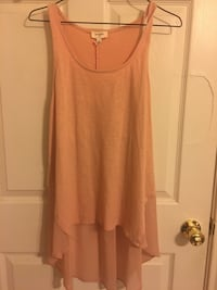 peach scoop-neck high-low tank top Canyon, 79015