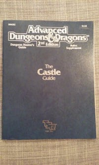 Advanced Dungeons and Dragons 2nd Edition The Castle Guide 2114