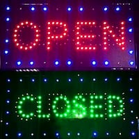 LED Open and close sign