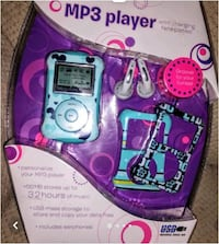 $55 NWT - MP3 girls player SEALED with removable face plate covers