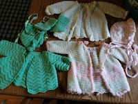 toddler's green and white dress Vintage sweaters Milton, 17847