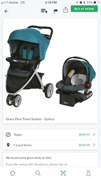 Baby's black and blue travel system screenshot New York, 10451