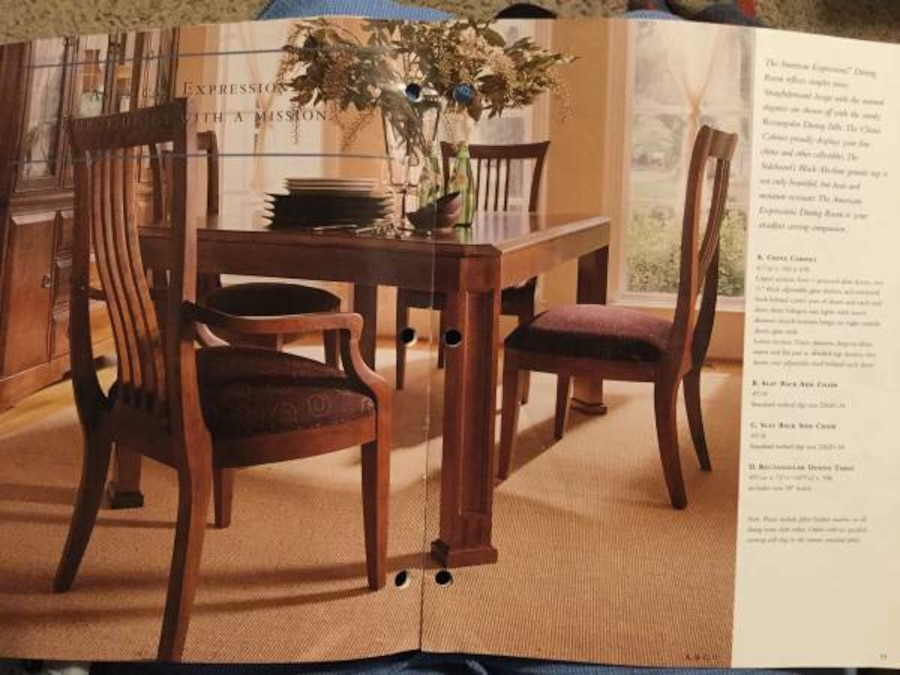 Used Thomasville American Expressions Dining Room Set In St Louis