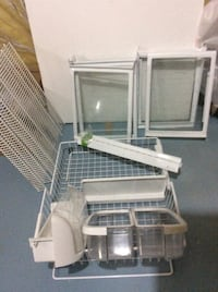 Glass sliding shelving from fridge + freezer basket. Can be used on the wall or in the pantry's Calgary, T2Z 2Y7