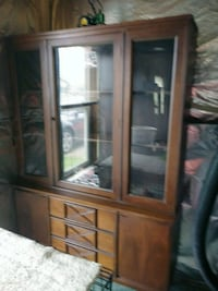 brown wooden framed glass display cabinet New Market, 21774