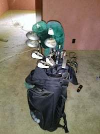 black golf bag with golf clubs Montgomery, 36116