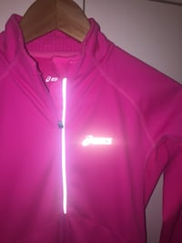 Rosa Asics zip-up jakke