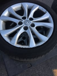 """205/50/17 Michelin all seasons tires on 17"""" Mazda Alloy Wheels  Mississauga, L5P"""
