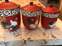 Hand-Painted Farmhouse kitchen ceramic canister set Fairfax, 22030