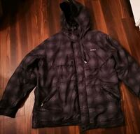 black and gray O'Neill ski jacket. zip-up hoodie Vancouver, V5S 3V6