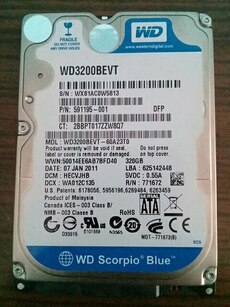 WD  Notebook Harddisk 320 gb