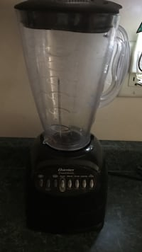 black and clear glass blender