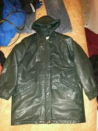 Real leather winter coat size 10 470 km