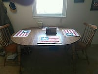 brown wooden table with chairs Warren, 44483