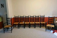 8 ladder back chairs  Sykesville, 21784