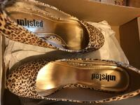 brown-and-black Unlisted leopard print heeled shoe Orlando, 32822