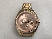 round gold Michael Kors chronograph watch with link bracelet San Antonio, 78238
