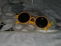 Yellow framed hippie sunglasses