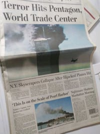 The Washington Post September 11th newspaper