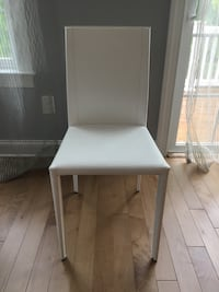 Leather dining chairs. Set of 4