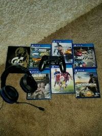 Ps4 games & turtle beach wireless headset Dearborn Heights, 48127
