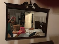 Large wooden framed mirror  Decatur, 35601