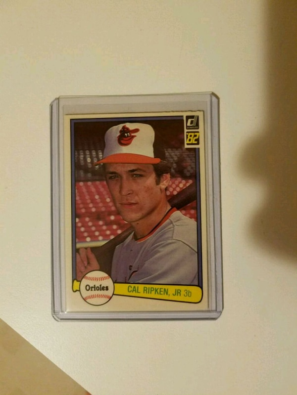 1982 Donruss Baseball Card Cal Ripken Jr Rookie