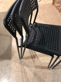 Black and gray metal chair New Berlin, 53151