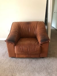 Brown leather sofa chair Alexandria, 22306