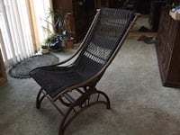 Antique wicker rocking chair with stationary base   Brampton, L6S 4Z4
