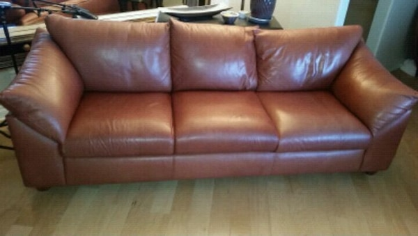 Genuine leather counch sofa, Made in USA